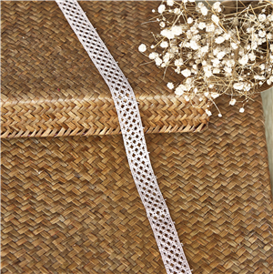Embroidery Lace Trim Good Quality Polyester Milk Silk Lace Trim For Dress