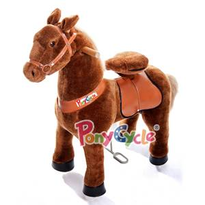 Ponycycle Small Brown White Rocking Walking Ride on Toy Horse Ages 3-5