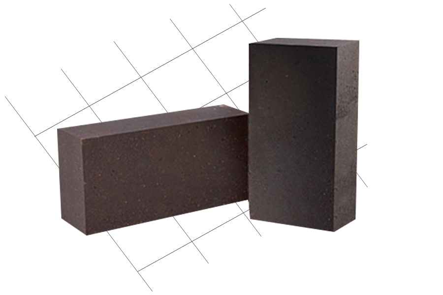 Rebonded magnesia chrome refractory bricks for AOD furnace tuyere zone