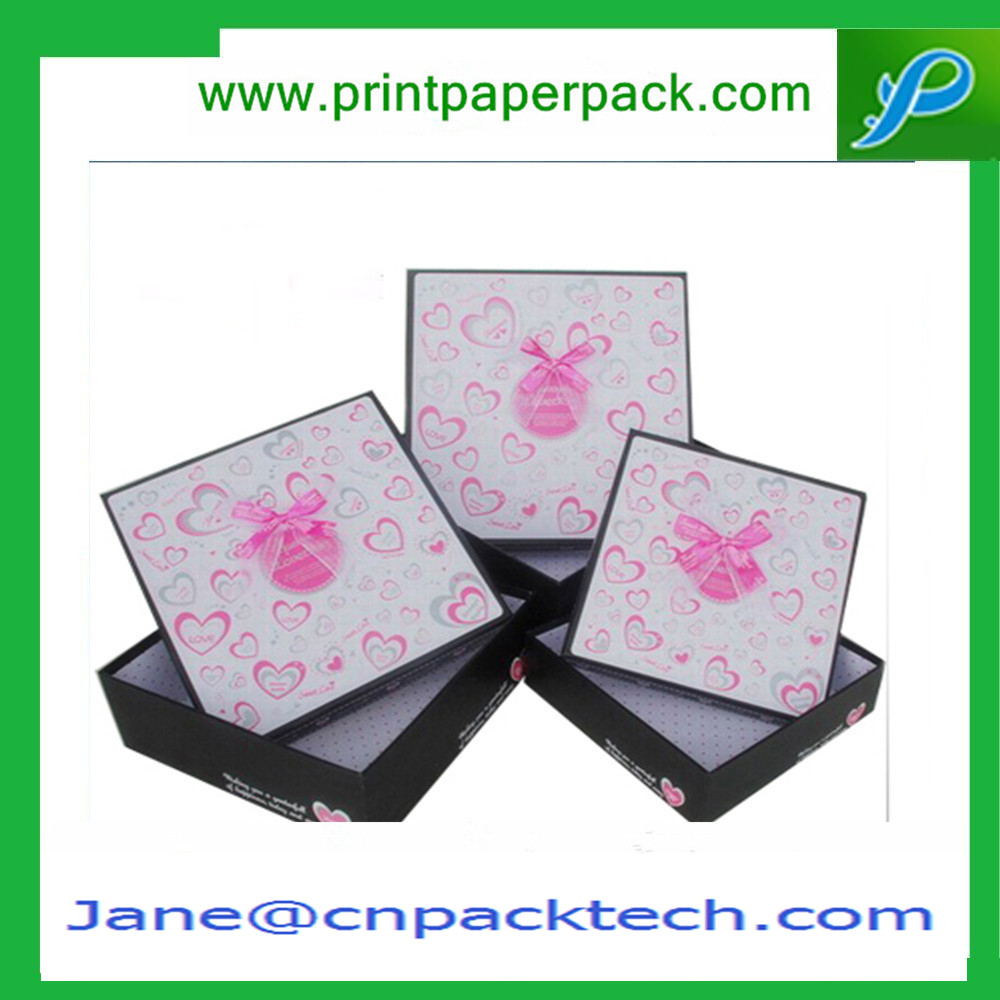 Custom Printed Lid and Base Boxes Jewelry Box Cosmetic Box