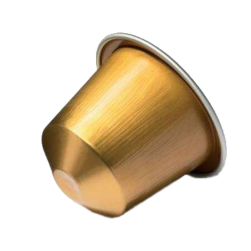 100% Recyclable Aluminum Capsules Compatible for Nespresso Machines