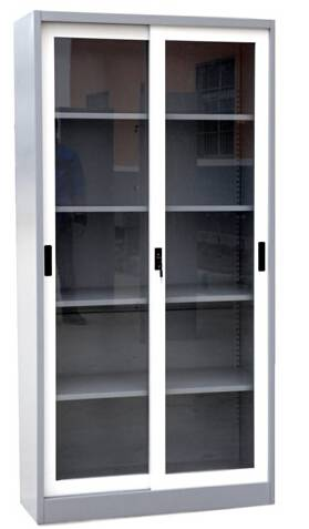 Sliding Glass Door Steel Cabinet with Different Types and Colors