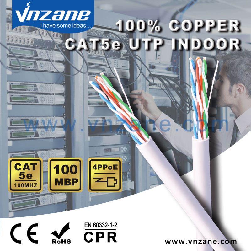 vnzane cat5e UTP 24AWG copper CCA ethernet cable
