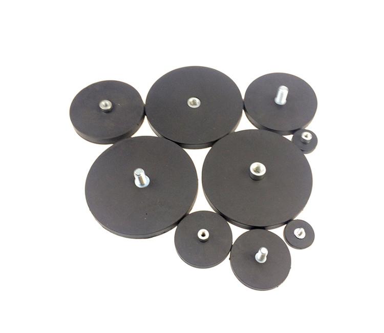 Neodymium Rubber Coated Magnet Mount Pot Magnet