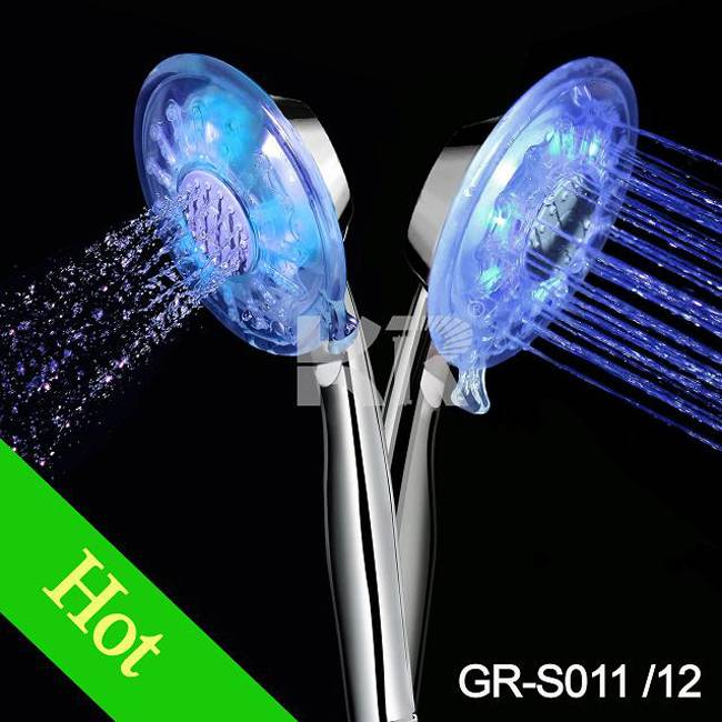 GR-S011 colorful led shower heads, shower faucets