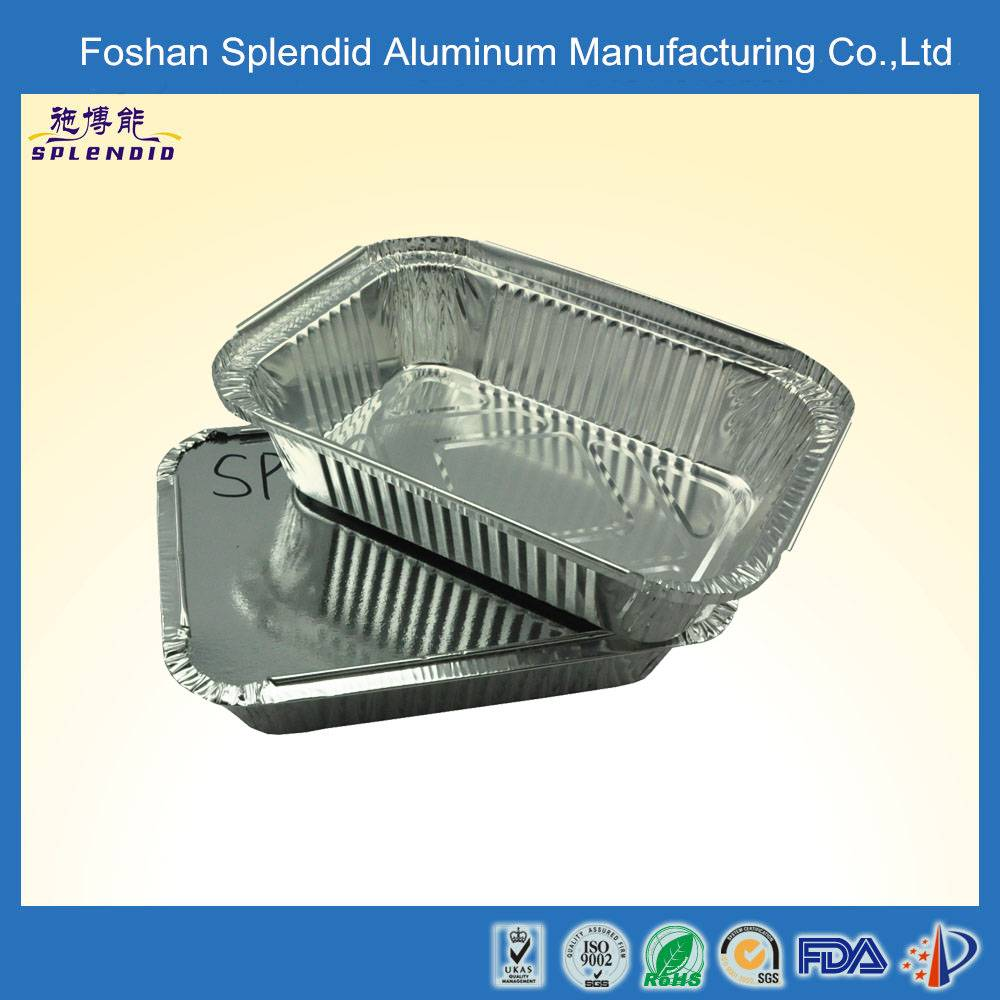 SPLS190B aluminum microwave disposable thermos fast food tray