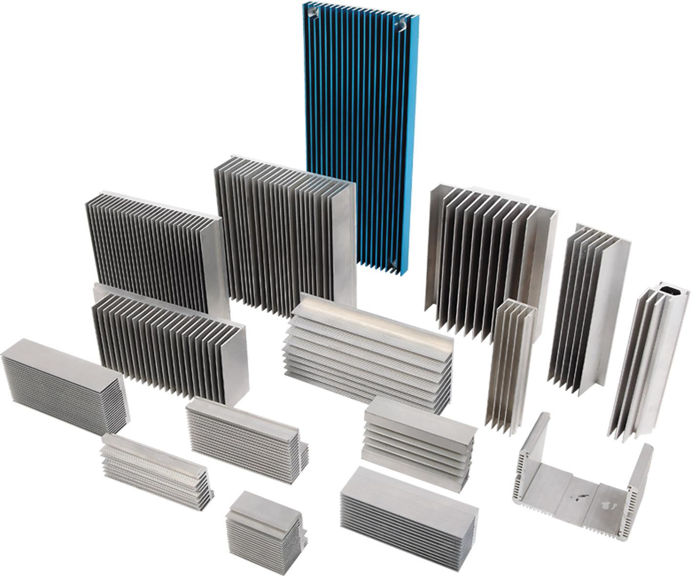 Aluminum alloy profiles for industry and house