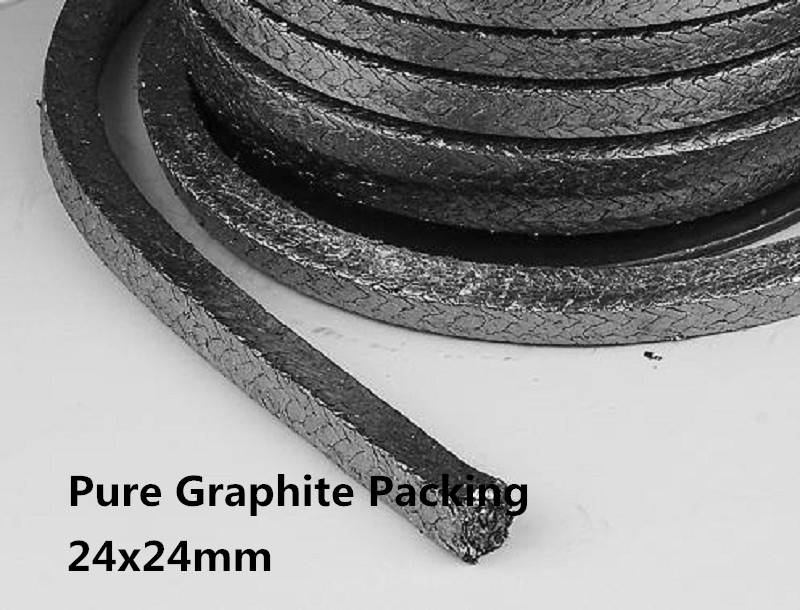 24*24mm Pure Graphite Packing 1kg for sealing /braided Graphited Packing for machine sealing /flexib