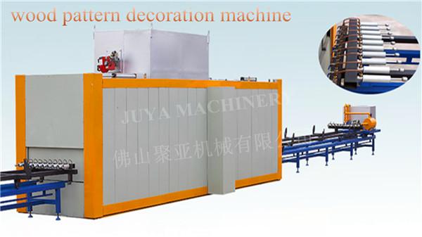 wood pattern decoration machine for aluminum profile