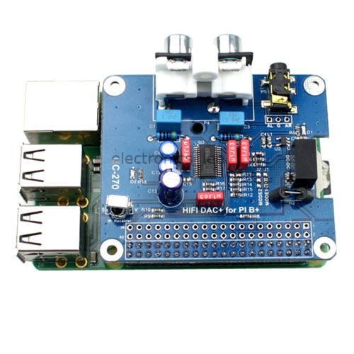 HIFI DAC Audio Sound Card Module I2S interface for Raspberry pi B+ / 2 Model B