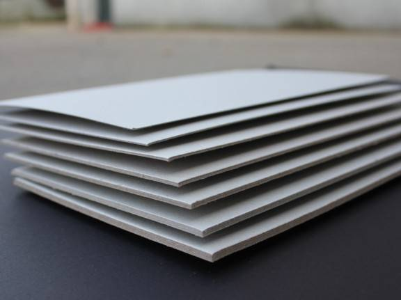 2.0mm laminated grey paperboard sheet stocklot