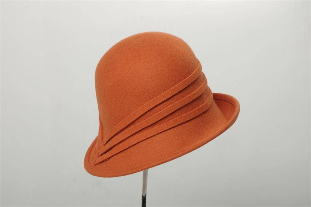 Ladies Bucket Wool Felt Hat (FW006103)
