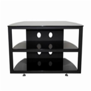 business style black glass tv stand
