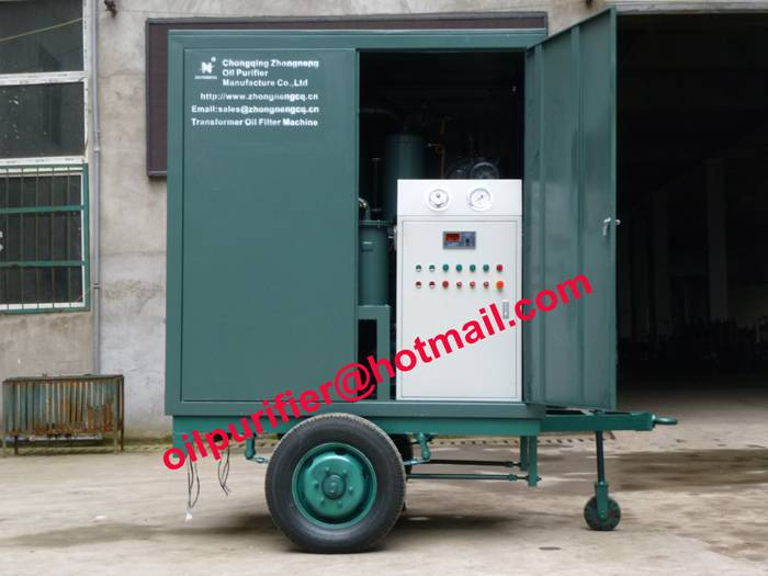 Chinese Portable Transformer Oil Dehydration System, Mobile Vacuum Transformer Oil Purifier Plant