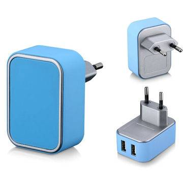 Eu plug portable USB charger for Android Phone with 5V 2.4A output