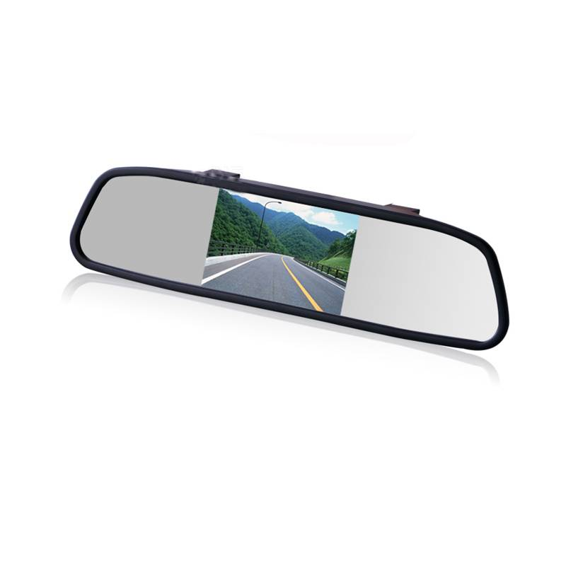 4.3 Inch Color TFT LCD Display Screen NTSC Auto Vehicle Parking Rearview Mirror Monitor for Car Reve