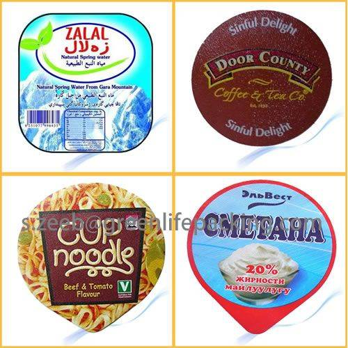 aluminium foil lids for yoghurt,coffee,dairy,ice cream