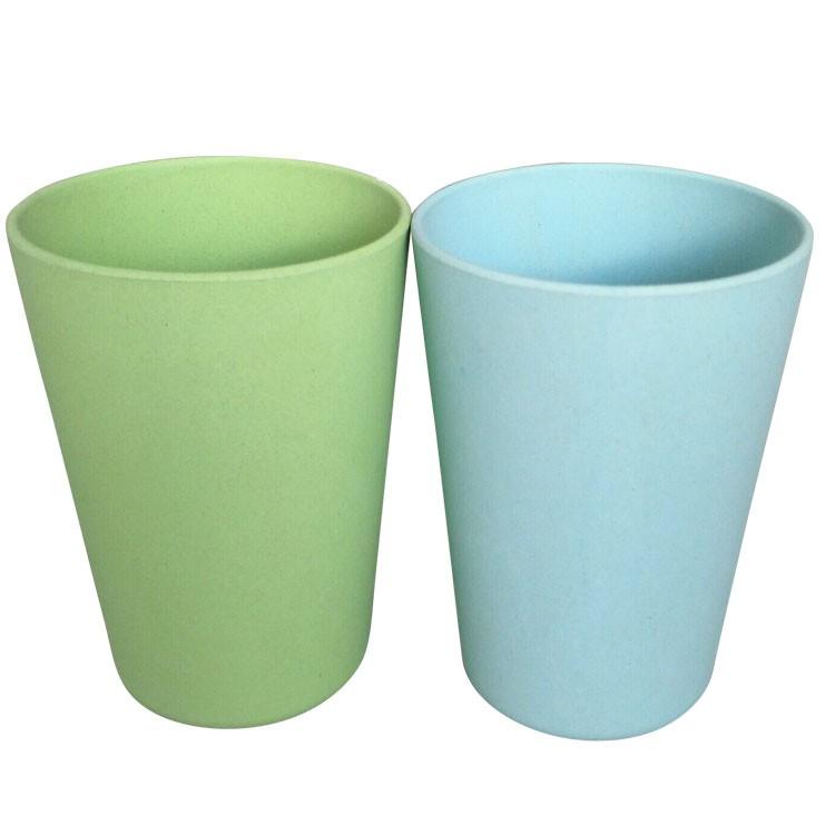 Colored Children Tumbler Cups Biodegradable Bamboo Fiber Drink Mug