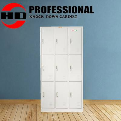 High Quality Stainless Office furniture 9 doors metal file cabinet
