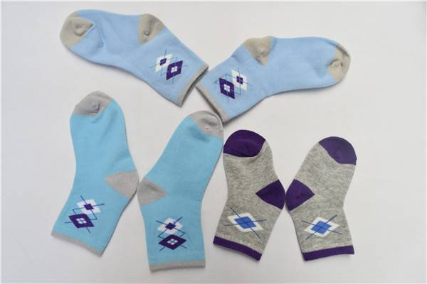 wholesale fashion children spring and autumn cotton socks,knitted diamond socks