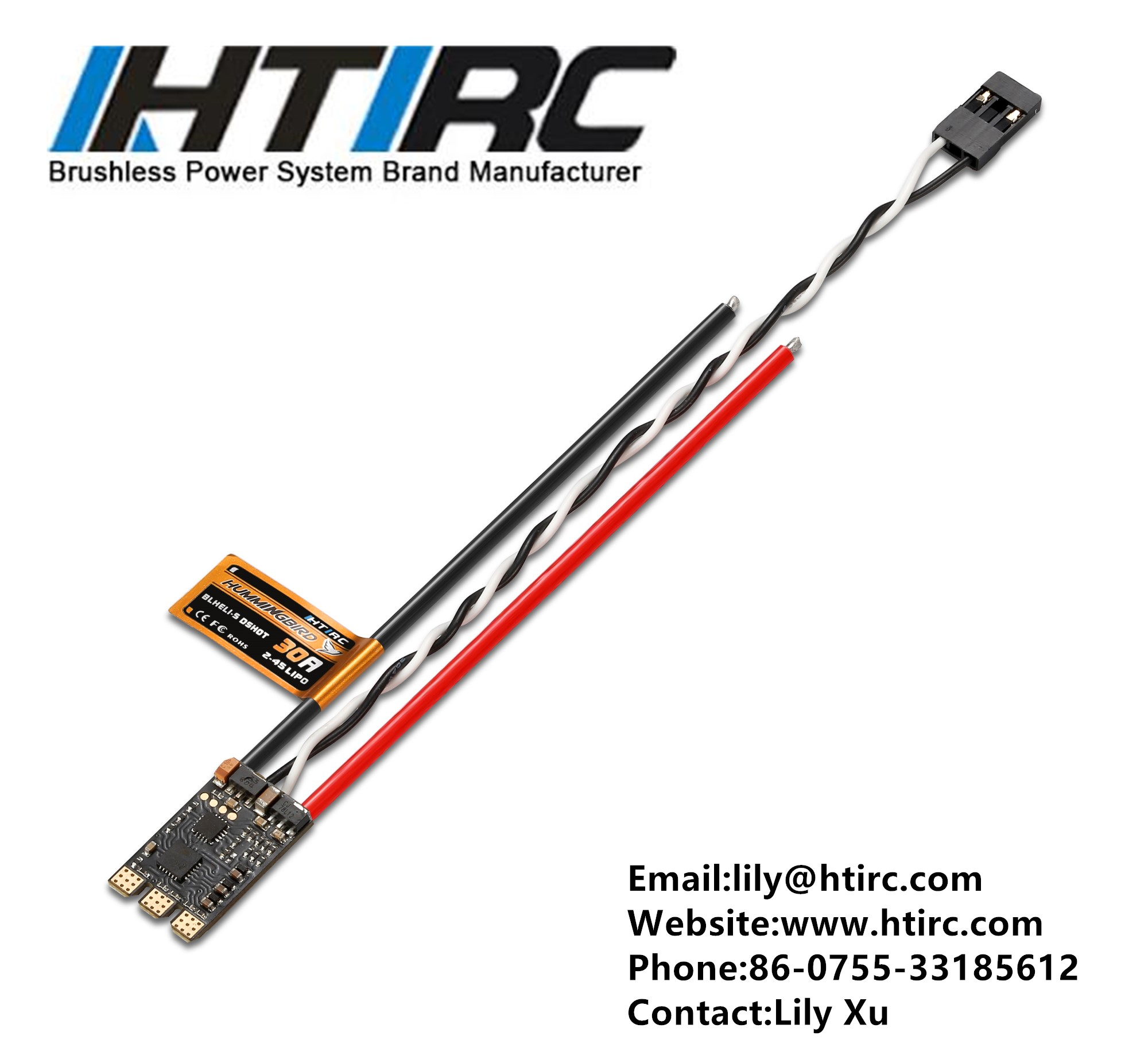 HTIRC Hummingbird 30A FPV 2-4S ESC BLHeli_S Dshot Oneshot125 Oneshot42 Multishot For FPV Racing