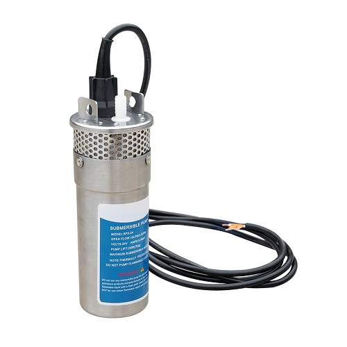 """ECO-WORTHY 24V DC Solar Pump 4"""" Bore Hole Submersible Water Pump 3.2GPM Stailess 70M Head"""