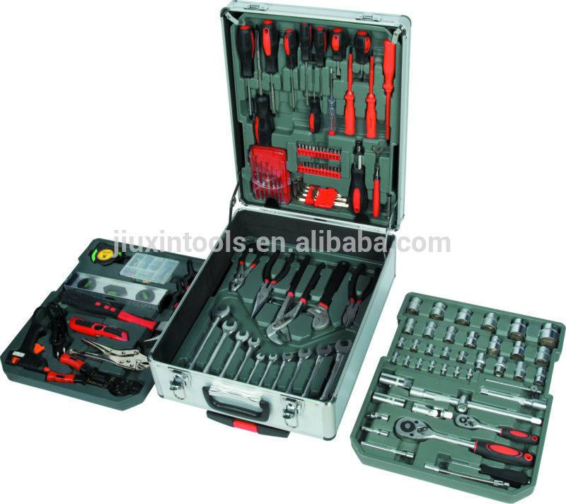 High Quality 186PCS Tool Set With Trolley Tool Case , Household Tool Set