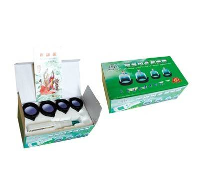 Acupunctue hijama Cupping Chinese Vacuum Cupping Therapy 4 Cups effet cupping device