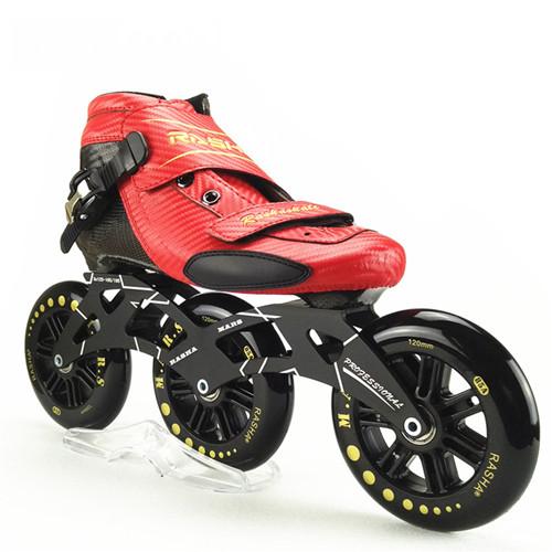 Rasha Skate Inline Speed Skating Shoes Speed Skates Red Carbon Inline Roller Skate Boot 110mm 100mm