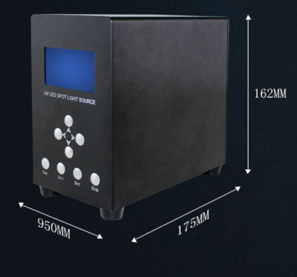 spot light UV curing system for needle bonding and curing