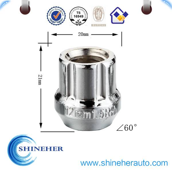 Open-Ended car wheel lock nuts for all after market