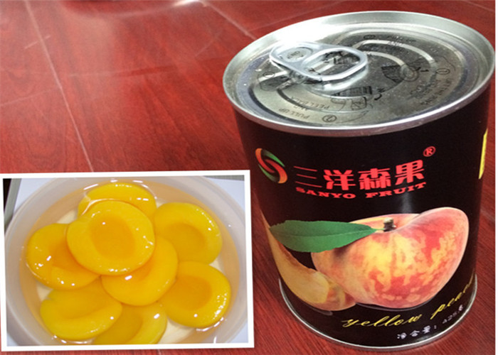Organic Canned Yellow Peach Fruit