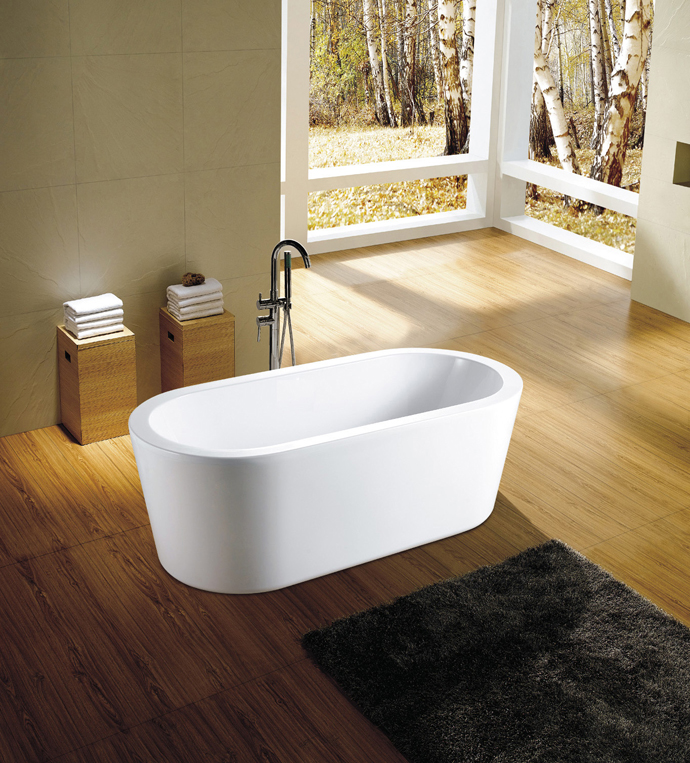 cUPC freestanding bathtub with feet seamless joint finish oval acrylic tub for USA Canada