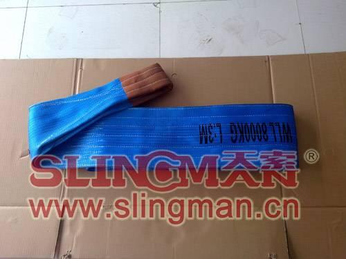 High quality WLL8ton 8000kg Polyester webbing sling flat web sling band