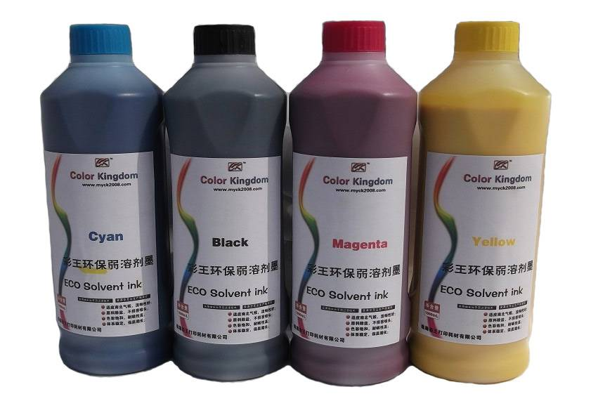 eco solvent ink outdoor pigment ink excellent ink bright color durable non-fading