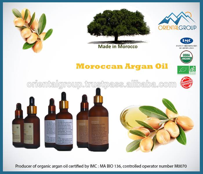 100% pure argan oil , Rich in Vitamin E cerified organic