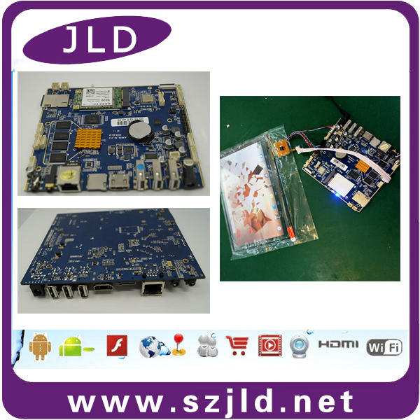 Factory supply high stability android quad core lcd controller circuit board embedded 3g 43 module