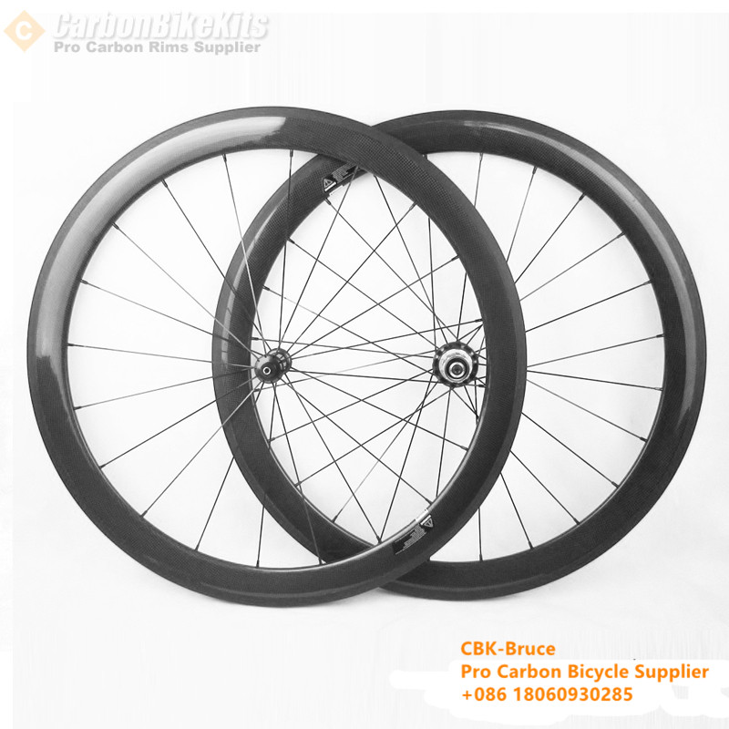 SR50C 50mm Pro Road Bicycle Carbon Clincher Wheelset With Carbon Straight Pull Hubs