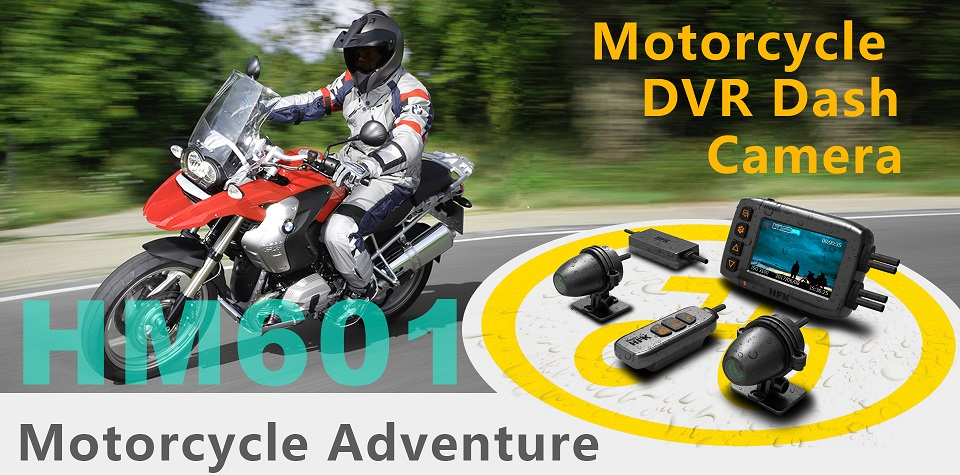 "HFK Motorcycle DVR Camera 2.7"" Full HD 1080P DVR Video Recorder Dash Cam 150 Degree Wide"