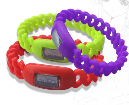 Fahsion twisted silicone watch sports wrist watches