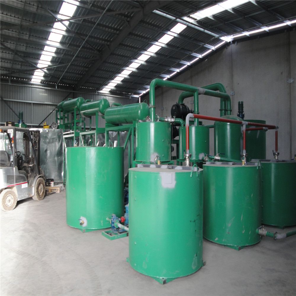 ZSA vacuum distillation plant for waste marine oil