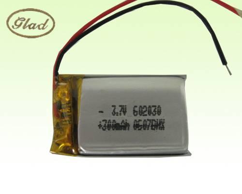 Li-ion Polymer Rechargeable Battery 3.7V 602030 300mAh