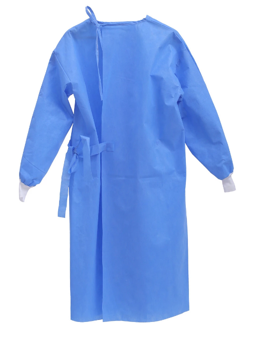 Surgical gown SMS material gown PP/PE Gown isolation gowns