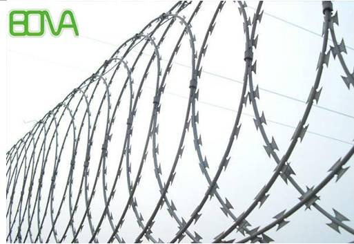 razor wire for security fencing barriers