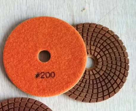 4 inch Metal particle WET polishing pads Diamond tools 100mm hybrid pads resin metal bond flexible g