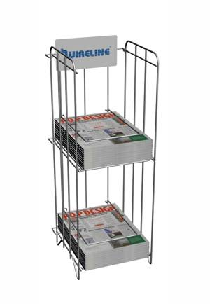 Magazine Newspaper Rack, 2 Tiers, Folding Design