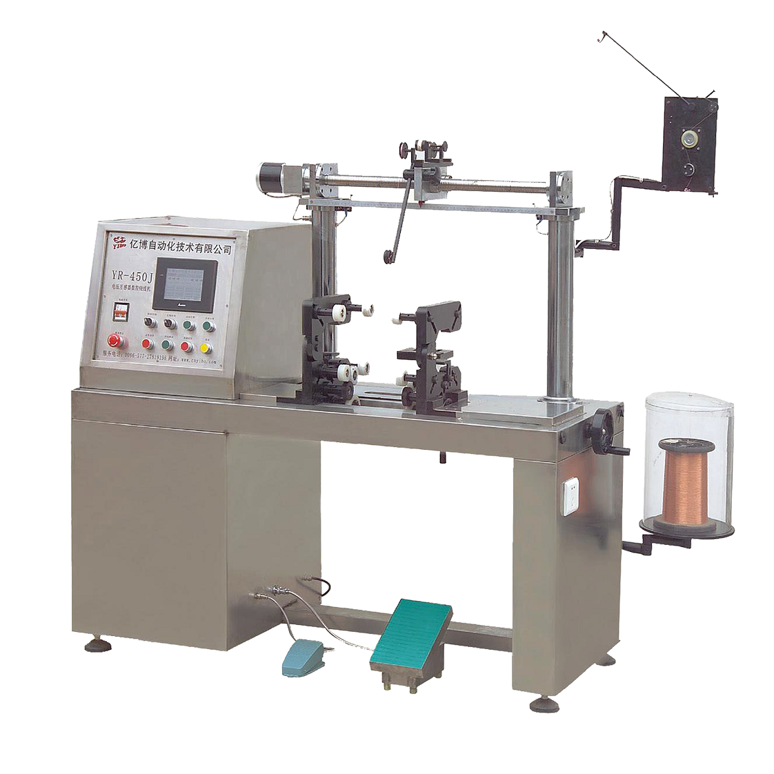 China supplier manual coil winding machine toroid winder coil preliminary winding machine