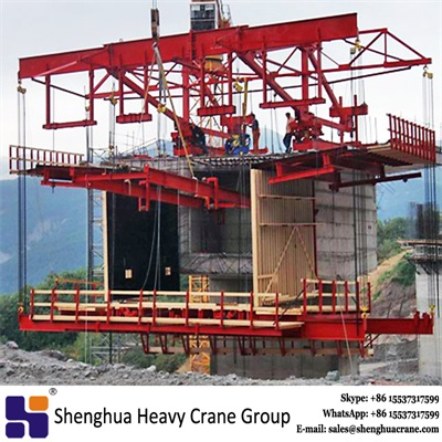China HSHCL 160 ton balanced construction segmental bridge casting form traveller machine