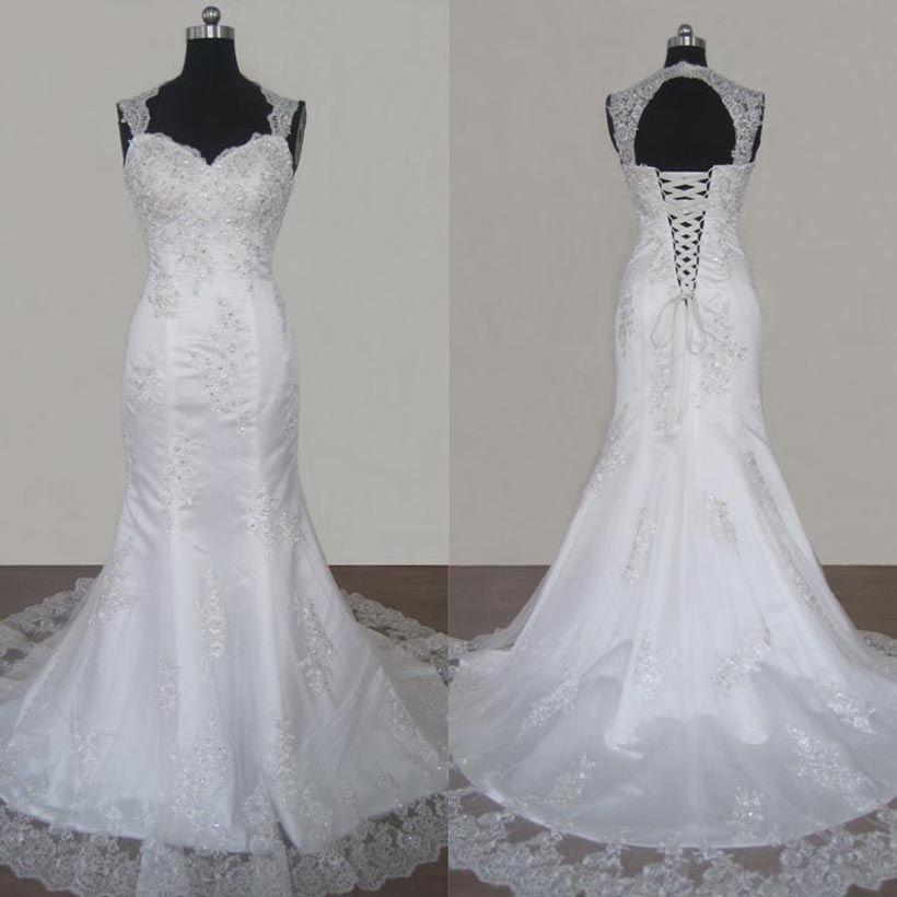 Mermaid Wedding Dress with Appliques