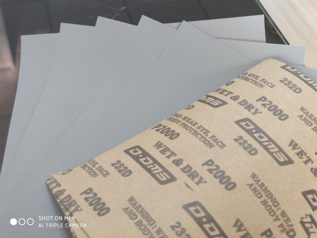 Silicon carbide water abrasive paper for high gloss surface finshing facotry direct sales